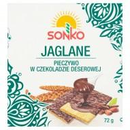 Sonko Pieczywo w czekoladzie deserowej jaglane 72 g