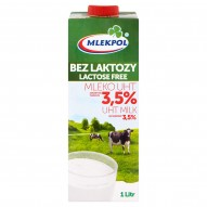 Mlekpol Bez laktozy Mleko UHT 3,5% 1 l