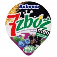 Bakoma 7 zbóż men Jogurt z jagodą czarną porzeczką i zbożami 300 g