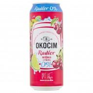 Okocim Radler Piwo bezalkoholowe z lemoniadą wiśnia z pigwą 500 ml