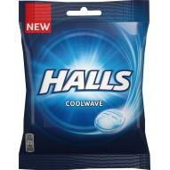 Cukierki o smaku miętowo-eukaliptusowym 65g Halls Coolwave 65g