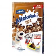 Lubella Mlekołaki Mix choco kulki z puffowanym ziarnem żyta w miodzie 250 g