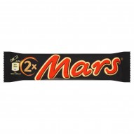 Mars Baton z nugatowym nadzieniem oblany karmelem i czekoladą 69 g (2 sztuki)