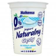 Bakoma Jogurt naturalny gęsty 0% 390 g