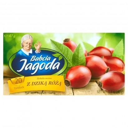 Babcia Jagoda Herbatka owocowa z dziką różą 40 g (20 torebek)