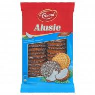 dr Gerard Alusie Kruche ciasteczka posypane wiórkami kokosowymi z polewą kakaową 350 g