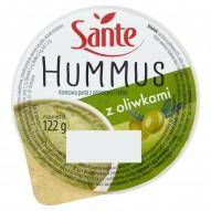 Sante Hummus z oliwkami Kremowa pasta z ciecierzycy i tahini 122 g