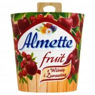 Almette Fruit z wiśnią i żurawiną Puszysty serek twarogowy 150 g