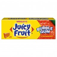 Juicy Fruit Bubble Gum Strawberry Guma do żucia 13,8 g (4 kostki)