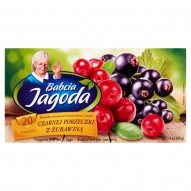 Babcia Jagoda Herbatka owocowa aromatyzowana o smaku czarnej porzeczki z żurawiną 40 g (20 torebek)