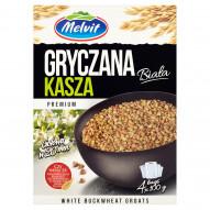 Melvit Premium Kasza gryczana biała 400 g (4 torebki)