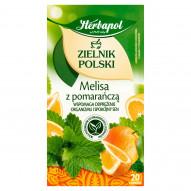 Herbapol Zielnik Polski Herbatka ziołowo-owocowa melisa z pomarańczą 35 g (20 x 1,75 g)