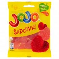 Jojo Serduszka Żelki o smaku truskawkowym i wiśniowym 80 g