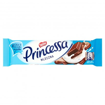 Princessa mleczna Wafel przekładany kremem kakaowym oblany mleczną czekoladą 34 g