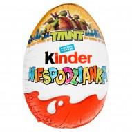 Kinder Niespodzianka TMNT Słodkie jajko z niespodzianką pokryte czekoladą mleczną 20 g