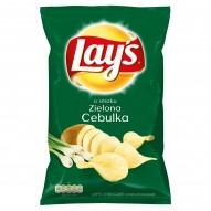 Lay's o smaku Zielona cebulka Chipsy ziemniaczane 140 g
