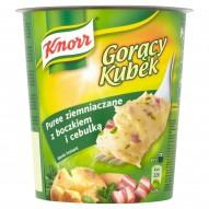 Knorr Gorący Kubek Puree ziemniaczane z boczkiem i cebulką 57 g
