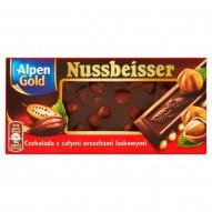 Alpen Gold Nussbeisser Czekolada gorzka z całymi orzechami 100 g