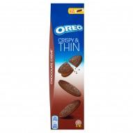 Oreo Crispy & Thin Ciastka kakaowe z nadzieniem o smaku czekoladowym 96 g (16 sztuk)