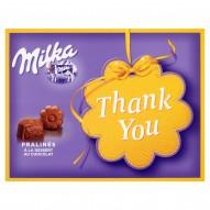 Milka Czekoladki mleczne z nadzieniem kakaowym Thank You 120 g (20 sztuk)